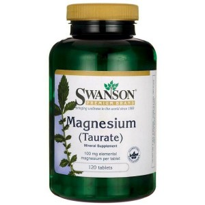 Swanson Taurynian Magnezu (Magnesium Taurate) 100mg - (120 tab)