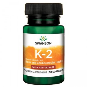 Swanson Witamina K2 +  Nattokinaza (30 kap)(data do konca 06.2019 r)