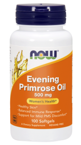 NOW Foods Evening Primrose oil – Olej z wiesiołka 500 mg (100 kap)
