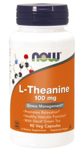 NOW Foods L- Theanine  (teanina )(90 kap)