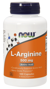 NOW Foods L-arginina 500mg (100 kap)