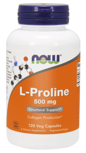 NOW Foods L-Prolina 500 mg (120 kap)