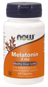 NOW Foods Melatonin 3 mg (60 kap)