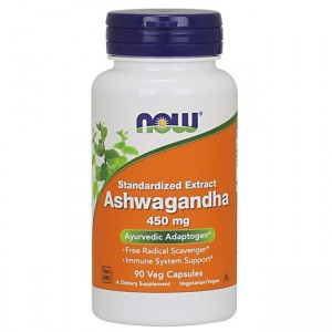 NOW Foods Ashwagandha- 450mg - (90 kap)