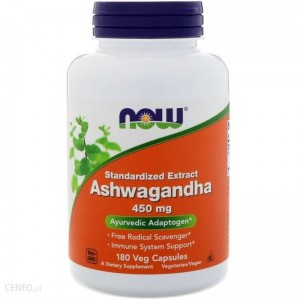 NOW Foods Ashwagandha( ashwaganda)- 450mg - (180 kap)