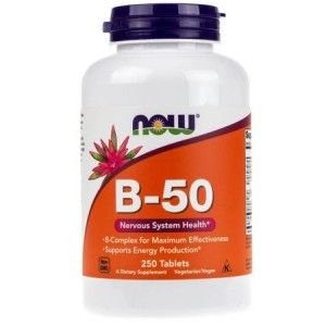 NOW Foods B-50 Kompleks witamin B (250 tab)