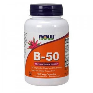 NOW Foods B-50 Kompleks witamin B (100 kap)