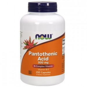 NOW Foods Pantothenic Acid (Kwas pantotenowy )500 mg (250kap)