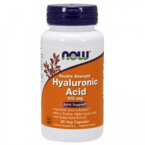 Now Foods Hyaluronic Acid 100mg ( 60 kap)Hialuronowy