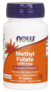 NOW Foods Methyl Kwas Foliowy Foliany 1000 mcg(90 tab)