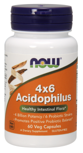 Now Foods Acidofilus 4x6 probiotyk (60 kap)