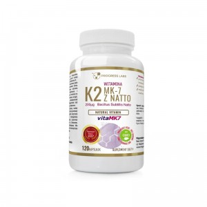 Progress Labs Witamina K2 VitaMK7 Z Natto 200mcg (120 tab)