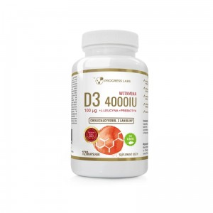 Progress Labs Witamina D3 Forte 4000IU 100mcg (120kap)