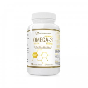 Progress Labs Omega 3 1000mg + witamina E (90 kap)