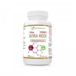 Progress Labs Dzika Róża 70% Naturalna Witamina C (120 kap)