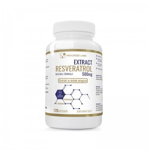 Progress Labs Resveratrol Extract 500mg Ekstrakt Ze Skórek Winogron (120 kap)