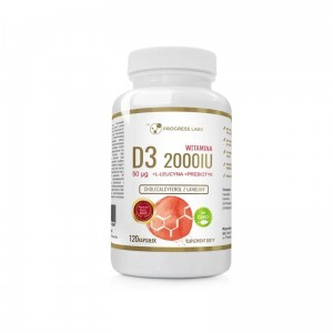Progress Labs Witamina D3 Forte 2000IU 50mcg  (120 kap)
