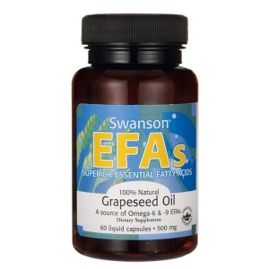 Swanson Grapeseed Oil 500mg - (60kap)