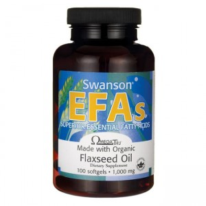 Swanson Flaxseed Oil (OmegaTru) 1000mg - (100 kap)