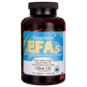Swanson Extra Virgin Olive Oil 1000mg - (120 kap)
