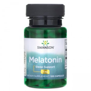 Swanson Melatonina - 3000mcg (3mg) - (120kap)