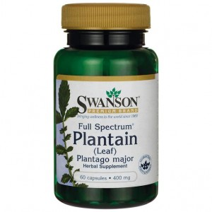Swanson Full Spectrum Plantain 400mg - (60 kap)