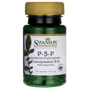 Swanson Witamina B6 P-5-P (koenzymatyczna) 25mg - (60 kap)(data do konca 07.2019r)